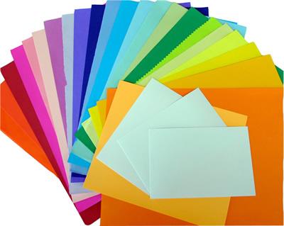 papeis coloridos
